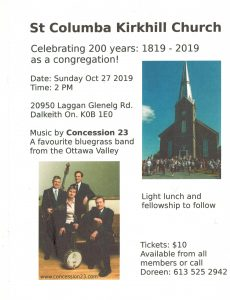 St. Columba 200th Anniversary Celebration @ St. Columba Presbyterian Church
